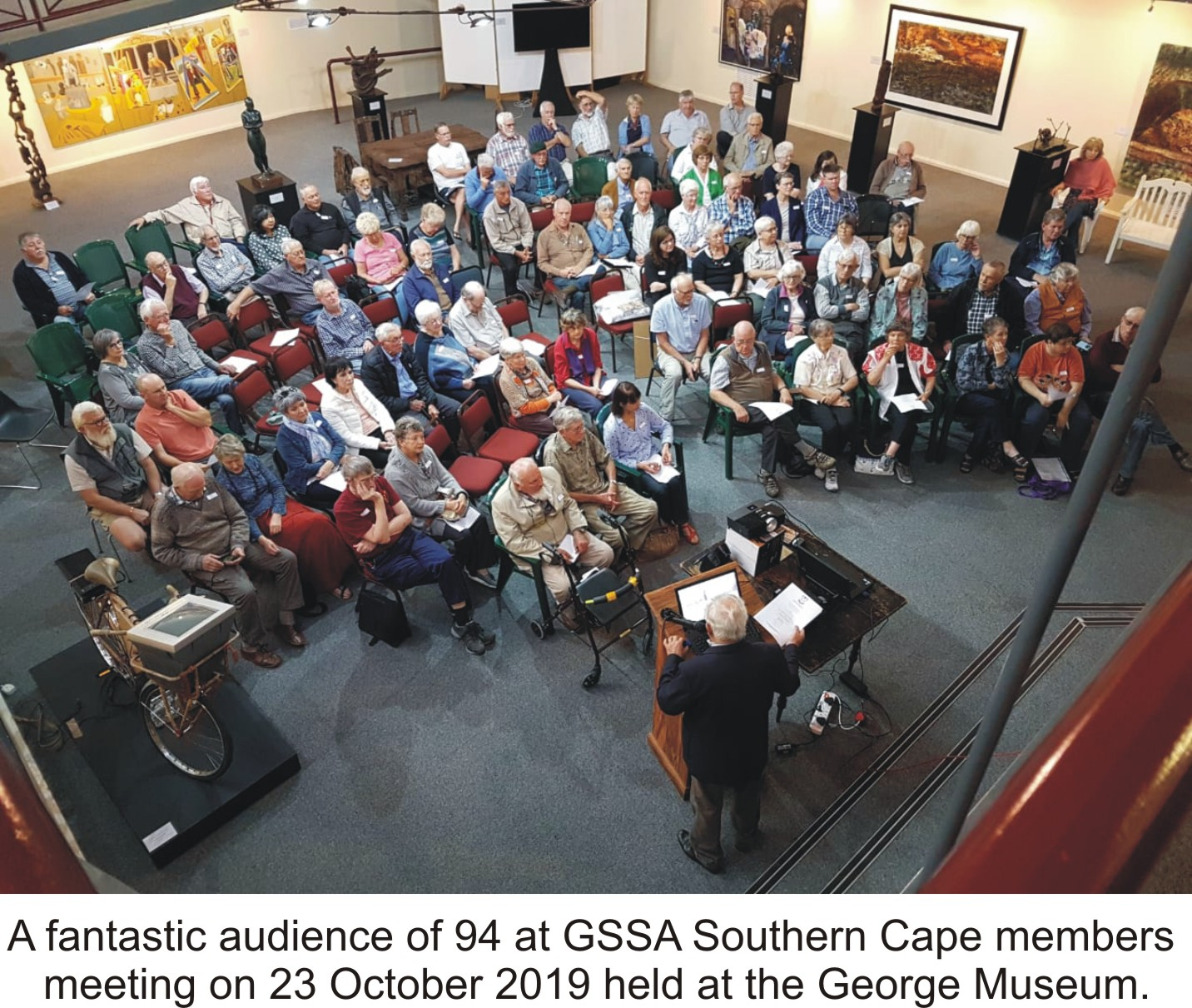Fantastic audience of 94 at GSSA Southern Cape members meeting on 23 October at the George Museumjpeg